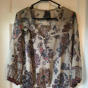 Bisou paisley print top